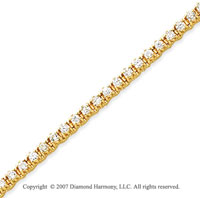 14k Yellow Gold Elegant 2 2/3 Carat Diamond Tennis Bracelet