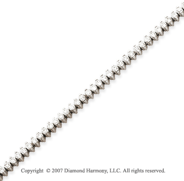 14k White Gold 2 Prong 2.80 Carat Diamond Tennis Bracelet