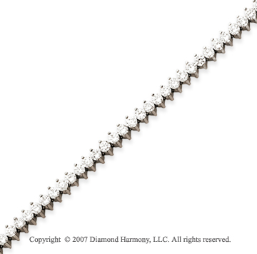 14k White Gold 2 Prong 5.00 Carat Diamond Tennis Bracelet