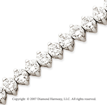 14k White Gold 2 Prong 8.80 Carat Diamond Tennis Bracelet