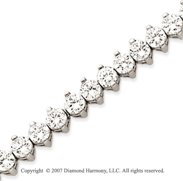 14k White Gold 2 Prong 10.00 Carat Diamond Tennis Bracelet