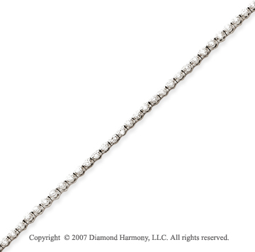 14k White Gold Round 2.00 Carat Diamond Tennis Bracelet