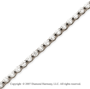 14k White Gold Round 4.65 Carat Diamond Tennis Bracelet