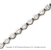 14k White Gold Round 7.20 Carat Diamond Tennis Bracelet