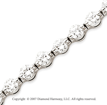 14k White Gold Round 7.75 Carat Diamond Tennis Bracelet
