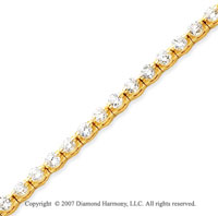 14k Yellow Gold Round 4.65 Carat Diamond Tennis Bracelet