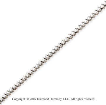 14k White Gold 3 Prong 2.35 Carat Diamond Tennis Bracelet