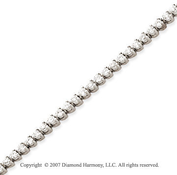 14k White Gold 3 Prong 2.80 Carat Diamond Tennis Bracelet