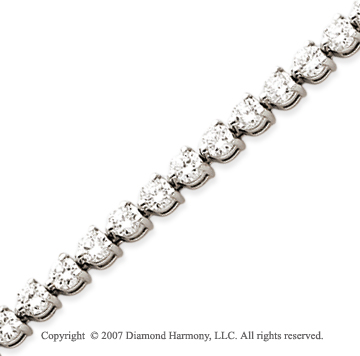 14k White Gold 3 Prong 7.15 Carat Diamond Tennis Bracelet