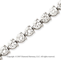 14k White Gold 3 Prong 10.85 Carat Diamond Tennis Bracelet