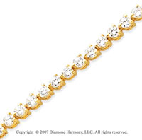 14k Yellow Gold 3 Prong 7.15 Carat Diamond Tennis Bracelet