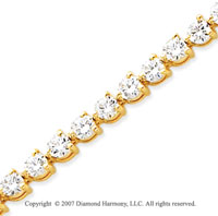 14k Yellow Gold 3 Prong 8.80 Carat Diamond Tennis Bracelet