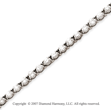 14k White Gold Duo Link 3.90 Carat Diamond Tennis Bracelet