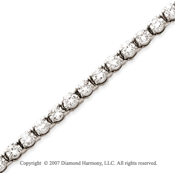 14k White Gold Duo Link 5.50 Carat Diamond Tennis Bracelet