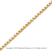 14k Yellow Gold Duo Link 2.65 Carat Diamond Tennis Bracelet