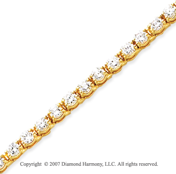 14k Yellow Gold Duo Link 5.50 Carat Diamond Tennis Bracelet