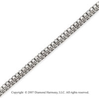 14k White Gold Fancy 1.60 Carat Diamond Tennis Bracelet