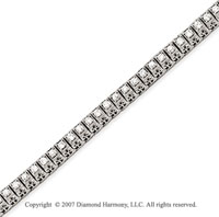 14k White Gold Fancy 2.00 Carat Diamond Tennis Bracelet