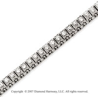14k White Gold Fancy 2.50 Carat Diamond Tennis Bracelet