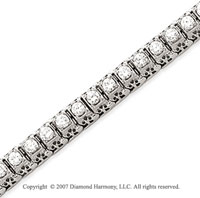 14k White Gold Fancy 3.90 Carat Diamond Tennis Bracelet
