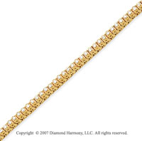 14k Yellow Gold Fancy 1.60 Carat Diamond Tennis Bracelet