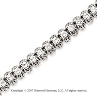 14k White Gold Fancy 5.15 Carat Diamond Tennis Bracelet