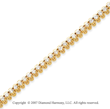 14k Yellow Gold Fancy 3.10 Carat Diamond Tennis Bracelet