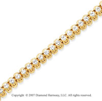 14k Yellow Gold Fancy 4.25 Carat Diamond Tennis Bracelet