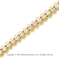 14k Yellow Gold Fancy 5.15 Carat Diamond Tennis Bracelet