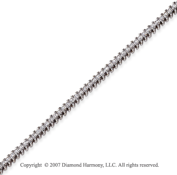 14k White Gold Classic 1.10Ct Diamond Tennis Bracelet