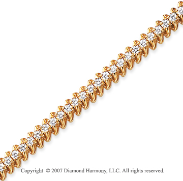 14k White Gold Classic 1.95 Carat Diamond Tennis Bracelet