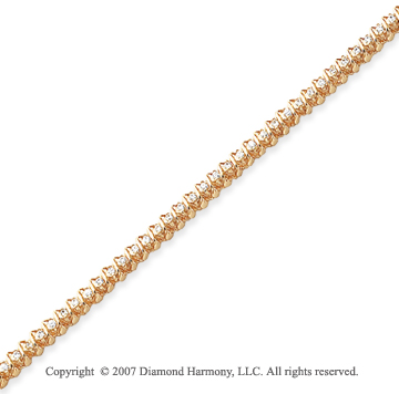14k Yellow Gold Swirl 1.00 Carat Diamond Tennis Bracelet