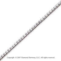 14k White Gold Bar Link 2.80 Carat Diamond Tennis Bracelet