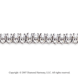14k White Gold V Shape 1.95 Carat Diamond Tennis Bracelet