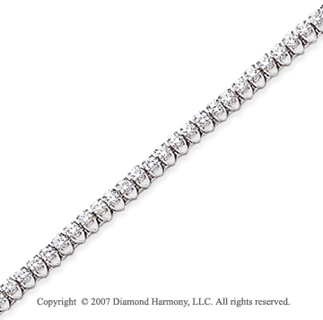 14k White Gold V Shape 3.00 Carat Diamond Tennis Bracelet