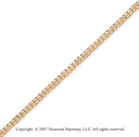 14k Yellow Gold V Shape 1.15 Carat Diamond Tennis Bracelet