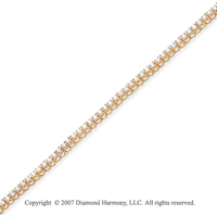 14k Yellow Gold V Shape 1.95 Carat Diamond Tennis Bracelet