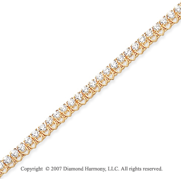 14k Yellow Gold V Shape 3.00 Carat Diamond Tennis Bracelet