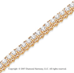 14k Yellow Gold V Shape 4.70 Carat Diamond Tennis Bracelet