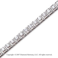 14k White Gold Box 4.00 Carat Diamond Tennis Bracelet
