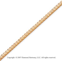 14k Yellow Gold Box 0.95 Carat Diamond Tennis Bracelet