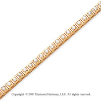 14k Yellow Gold Box 1.80 Carat Diamond Tennis Bracelet