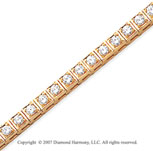 14k Yellow Gold Box 4.00 Carat Diamond Tennis Bracelet