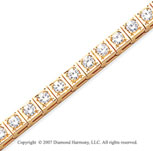 14k Yellow Gold Box 5.10 Carat Diamond Tennis Bracelet