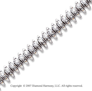 14k White Gold Wing 2.05 Carat Diamond Tennis Bracelet