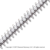 14k White Gold Wing 5.50 Carat Diamond Tennis Bracelet