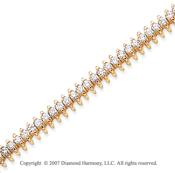 14k Yellow Gold Wing 3.25 Carat Diamond Tennis Bracelet