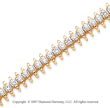 14k Yellow Gold Wing 3.85 Carat Diamond Tennis Bracelet
