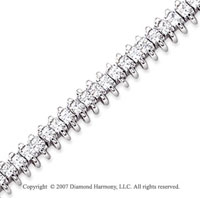 14k White Gold Wing 5.60 Carat Diamond Tennis Bracelet