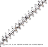 14k White Gold Wing 4.20 Carat Diamond Tennis Bracelet